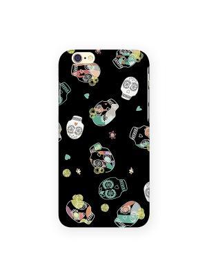 Чехол для IPhone 6 Цветные черепа Mitya Veselkov. Цвет: черный, фиолетовый