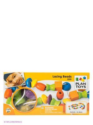 Игра Собери бусы PLAN TOYS. Цвет: оранжевый