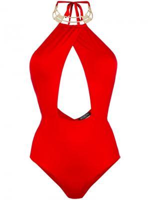 Купальник Alyssa Moeva. Цвет: красный