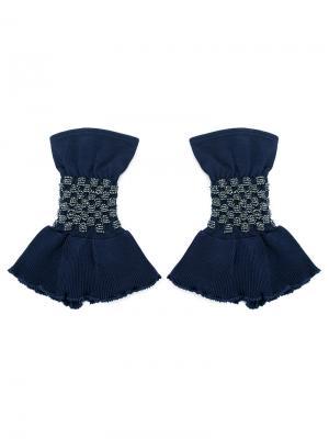 Knitted cuffs Andrea Bogosian. Цвет: синий