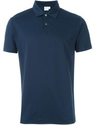 Классическая футболка-поло Sunspel. Цвет: синий