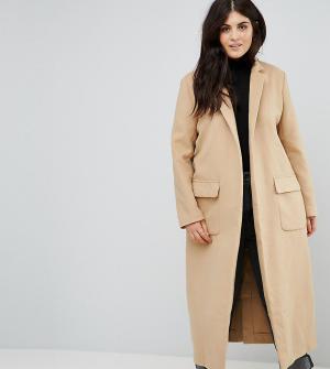 Alice & You Свободное пальто-кокон. Цвет: коричневый