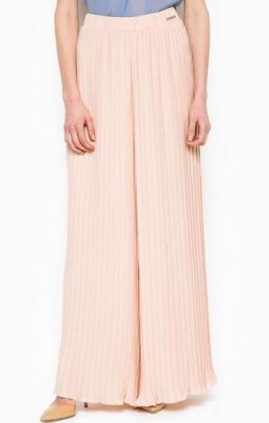 Широкие брюки розового цвета Maison Espin. Цвет: розовый