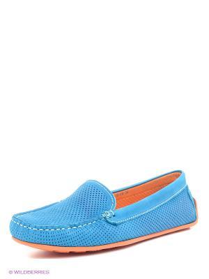 Мокасины Calipso. Цвет: голубой