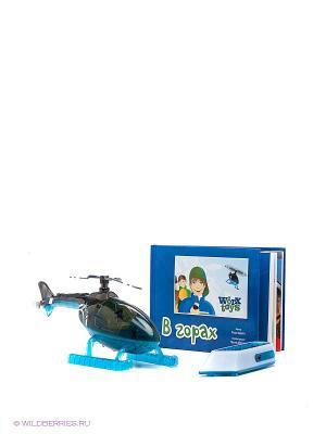 Игрушка Вертолет с книжкой и пультом управления Worx Toys. Цвет: черный, синий