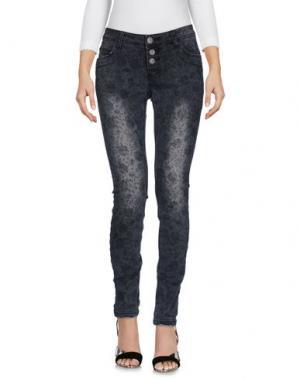 Джинсовые брюки SUBLEVEL. Цвет: стальной серый