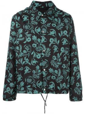 Куртка с растительным принтом Ami Alexandre Mattiussi. Цвет: чёрный