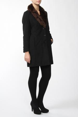 Пальто Marks & Spencer. Цвет: черный