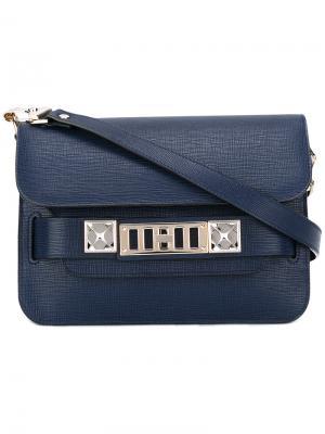 Сумка на плечо PS11 Proenza Schouler. Цвет: синий