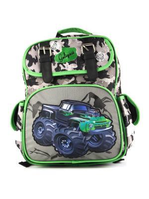 Рюкзак 1Azaliya. Цвет: зеленый, серый