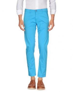 Повседневные брюки EXCLUSIVE. Цвет: лазурный