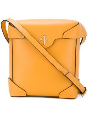 Квадратная сумка на плечо Manu Atelier. Цвет: жёлтый и оранжевый