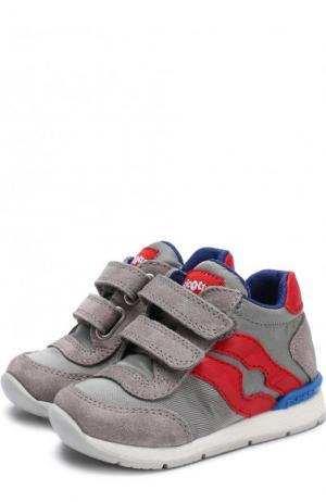 Текстильные кроссовки с замшевой отделкой Falcotto. Цвет: серый