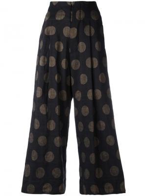 Укороченные брюки с узором в горох Uma Wang. Цвет: многоцветный