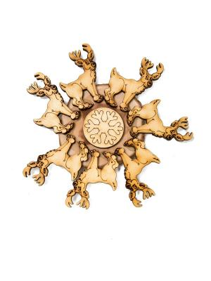 Подставка под горячее из можжевельника Mitya Veselkov. Цвет: светло-коричневый