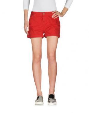 Джинсовые шорты NO-NÀ. Цвет: красный