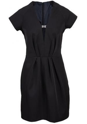 Платье Y.O.U.. Цвет: черный
