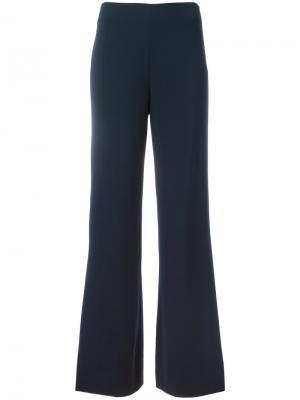 Широкие костюмные брюки Dvf Diane Von Furstenberg. Цвет: синий
