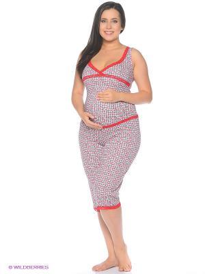 Пижама ФЭСТ. Цвет: белый, красный