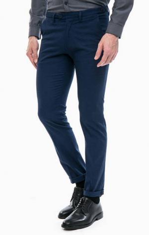 Синие хлопковые брюки DRYKORN. Цвет: синий