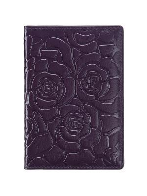 Обложка для паспорта Dr. Koffer. Цвет: фиолетовый