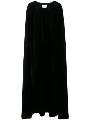 Бархатный длинный кейп Racil. Цвет: чёрный