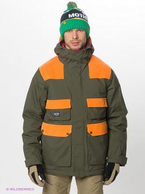 Куртка Analog. Цвет: хаки, оранжевый