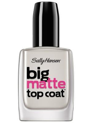Верхнее покрытие для создания матового эффекта big matte top coat SALLY HANSEN. Цвет: прозрачный