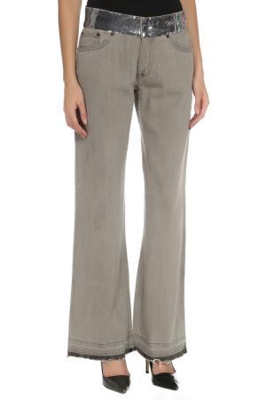 Расклешённые брюки с застежкой на болты John Richmond. Цвет: 992, серый