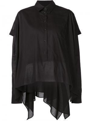 Многослойная рубашка свободного кроя Maison Margiela. Цвет: чёрный