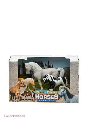 Набор Лошади Happy Kin. Цвет: черный, серый, белый, коричневый