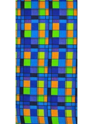 Вафельное полотенце 3 шт Корона. Цвет: синий