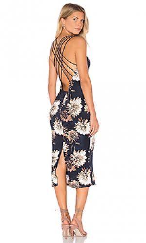 Платье миди aurelia Lucca Couture. Цвет: синий