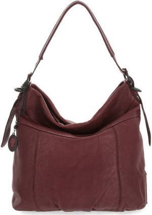 Фиолетовая кожаная сумка с дополнительной косметичкой aunts & uncles. Цвет: фиолетовый