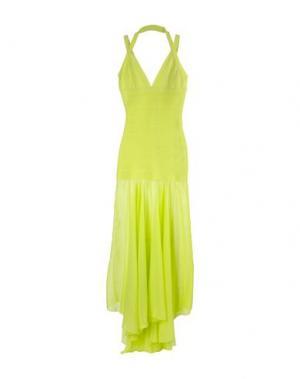 Длинное платье ELLA LUNA. Цвет: кислотно-зеленый