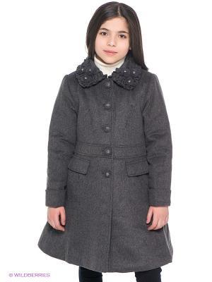 Пальто Baby Steen. Цвет: темно-серый