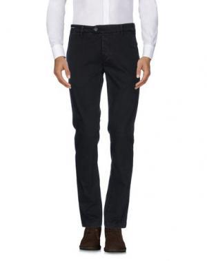 Повседневные брюки TELERIA ZED. Цвет: темно-коричневый