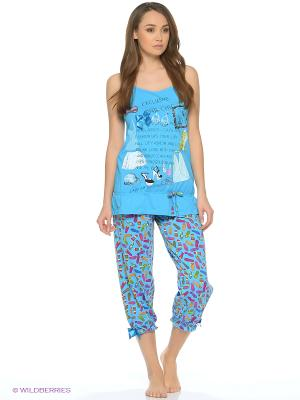 Пижама NICOLETTA. Цвет: синий