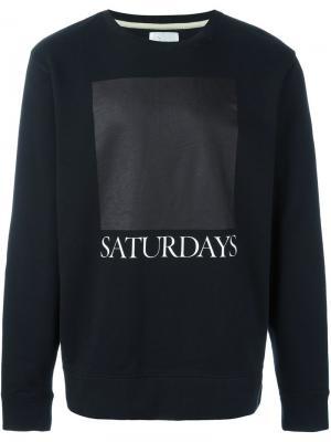 Толстовка с логотипом Saturdays Surf Nyc. Цвет: чёрный