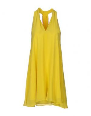 Короткое платье ELLA LUNA. Цвет: желтый