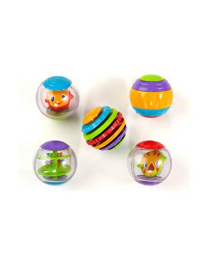 Развивающая игрушка Забавные шарики BRIGHT STARTS. Цвет: фиолетовый, оранжевый, зеленый