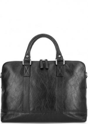 Вместительная кожаная сумка со съемным ремнем Picard. Цвет: черный