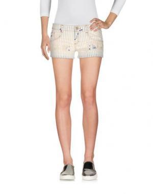 Джинсовые шорты DENNY ROSE. Цвет: синий