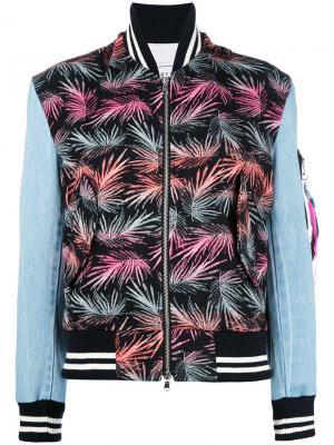 Куртка бомбер с принтом Forte Couture. Цвет: многоцветный
