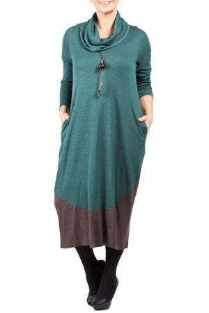 Платье Zedd Plus. Цвет: зеленый