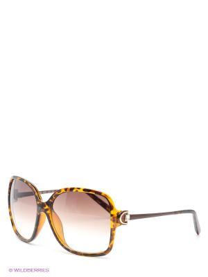 Солнцезащитные очки Selena. Цвет: коричневый, желтый