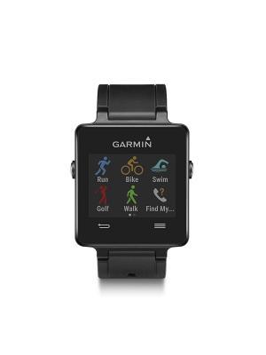 Умные часы Vivoactive HRM черный с пульсометром GARMIN. Цвет: черный
