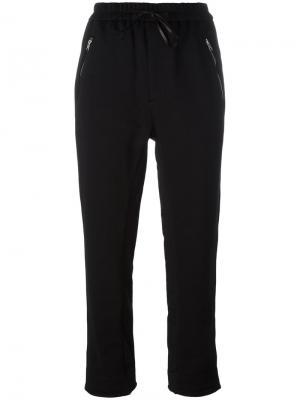 Укороченные спортивные брюки 3.1 Phillip Lim. Цвет: чёрный