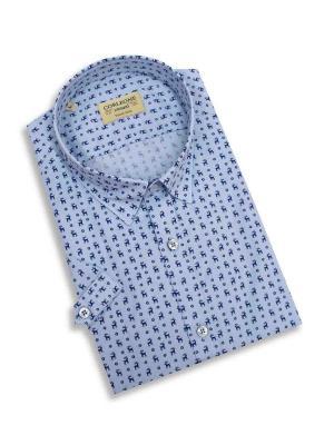 Рубашка мужская Corleone.. Цвет: голубой