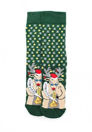 Комплект носков 2 пары Topman. Цвет: зеленый